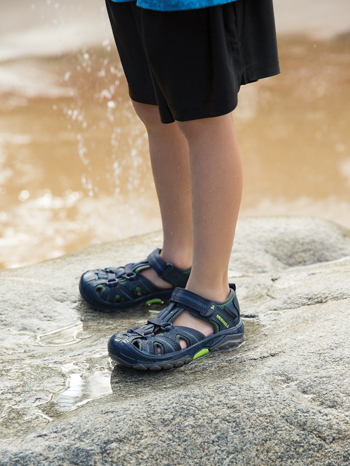 Merrell Hydro Sandal Navy/Green (Kids/Youth) (Wide)