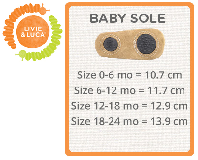 Livie & Luca Baby Size Chart
