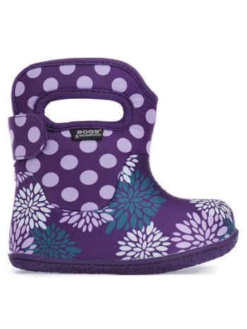 Baby Bogs Waterproof Boots Classic Pompon Dots Grape Multi