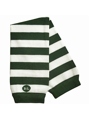 BabyLegs Dark Green/ White Varsity Leg Warmers