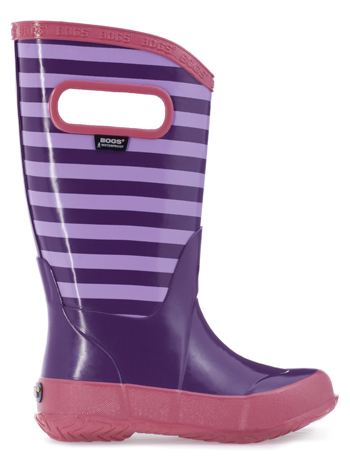 Bogs Kids' Rain Boots Stripes Grape Multi