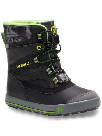 Merrell Snow Bank 2 0 Waterproof Boots Black Grey Kids Youth