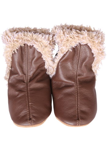 e7beef9c0898 Robeez Booties Brown - TinySoles