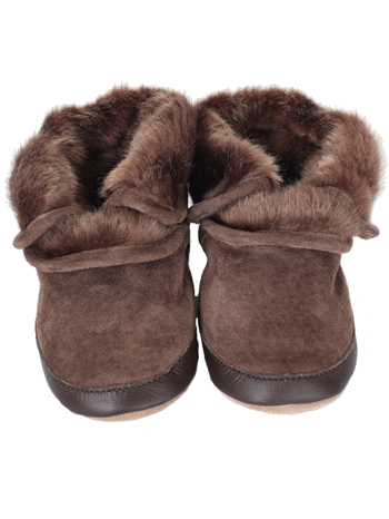 825037a858d848 Robeez Cozy Ankle Booties Brown (Soft Soles)