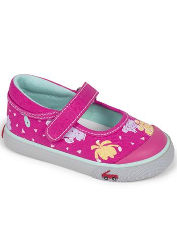 See Kai Run Marie Floral Hot Pink
