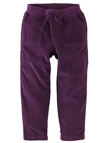 Tea Collection Corduroy Play Pants Eggplant