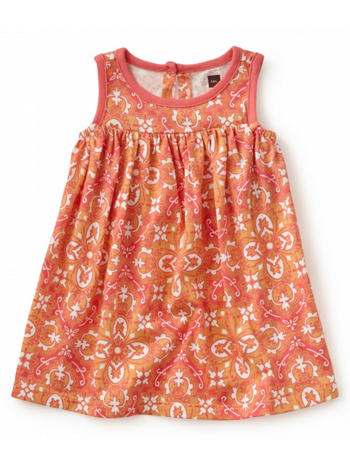 Tea Collection Eleonora Baby Dress Calypso Coral (Baby Girls)