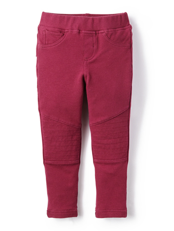 Tea Collection French Terry Moto Pants Raisin