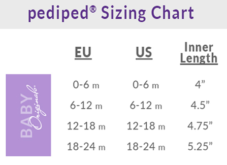 Pediped Originals Size Chart