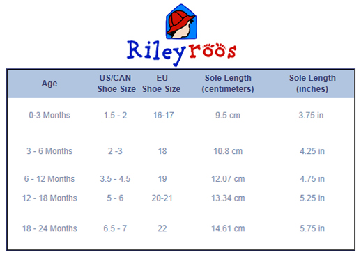 Kids Shoes Size Charts And Sizing Help  TinysolesCom