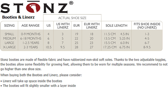 Kids Shoes Size Charts and Sizing Help - TinySoles.com