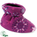Acorn Easy Bootie Snowflower Purple