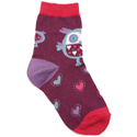 Country Kids Big Owl Socks Berry