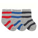 Country Kids Bold Stripe Organic 3 Pair Sock Set Primaries
