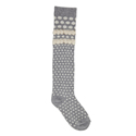 Country Kids Bubble Dot OTK Sock Silver Gray