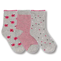 Country Kids 3 Pack Ditsy Daisy Silver Gray