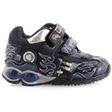 Geox Fighter Navy Black Infants w/ Lights