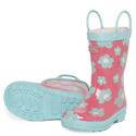 Hatley Blue Flowers Rain Boots