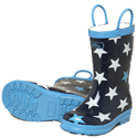 Hatley Fun Stars Blue Rain Boots