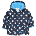 Hatley Fun Stars Blue Lined Raincoat
