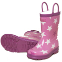 Hatley Fun Stars Pink Rain Boots 