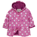 Hatley Fun Stars Pink Lined Raincoat