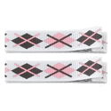 No Slippy Clipettes Argyle Pink Brown 2 Pack