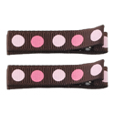 No Slippy Clipettes Dots Dark Brown 2 Pack