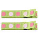 No Slippy Clipettes Dots Lime 2 Pack