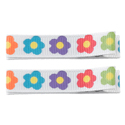 No Slippy Clipettes Flowers White 2 Pack