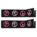 No Slippy Clipettes Peace Signs Black 2 Pack