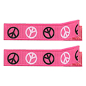 No Slippy Clipettes Peace Signs Shocking Pink 2 Pack