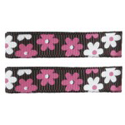 No Slippy Clipettes Flowers Brown 2 Pack