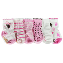Robeez 6pk Girls Bear Socks in Keepsake Box