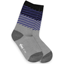 See Kai Run Organic Socks Diagonal Daze Gray