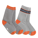 See Kai Run Organic Sock Set Chevron Deluxe Gray/Orange