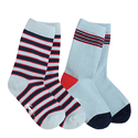 See Kai Run Organic Sock Set Mighty Stripes Blue
