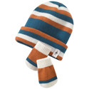 SmartWool Baby Wintersport Stripe Hat & Mitt Set Petrol Blue