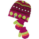 SmartWool Baby Dot Hat Mitt Set Berry