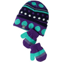 SmartWool Baby Dot Hat Mitt Set Grape