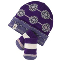 Smartwool Baby Lil Daisy Hat and Mitt Set Grape