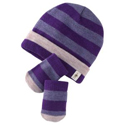SmartWool Baby Stripe Hat & Mitt Set Grape