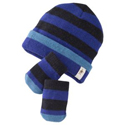 SmartWool Baby Stripe Hat & Mitt Set Royal