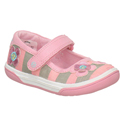 Stride Rite Misha Grey Pink Flowers