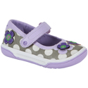 Stride Rite Misha Purple Polka Dots