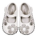 pediped Abigail White Silver
