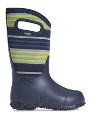 Bogs Kids' Insulated Boots Durham Varied Stripes Dark Blue Multi