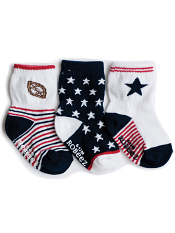 Robeez 3pk Socks National Sport Navy