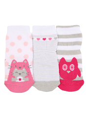 Robeez 3pk Socks Love Friends Pink
