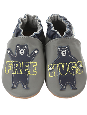 Robeez Free Hugs Grey (Soft Soles)